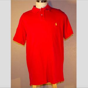 Polo Ralph Lauren Red Polo Custom Fit 2XL XXL